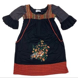 LABEL Ritu Kumar Bird Embroidered Tunic Dress